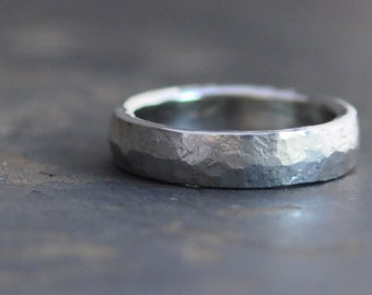 low forged mwb band raw in pave white wb hand wedding gold finish rings platinum dome