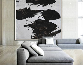 Abstract painting Large Canvas Art, Minimalist Abstract Art, hand painted acrylic painting on canvas - Ethan Hill Art No.H59S