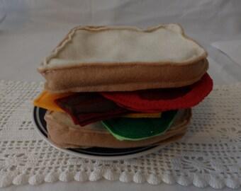 felt toy BLT sandwich