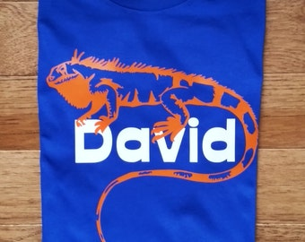 Personalized reptile birthday shirt for boys, lizard birthday shirt