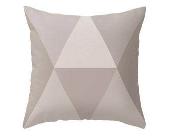 Taupe Geometric pillow Mid-century pillow nordic cushion Taupe pillow Taupe geometric cushion geometric pillow Taupe cushion Taupe decor
