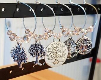 Tree Wine Glass Charms
