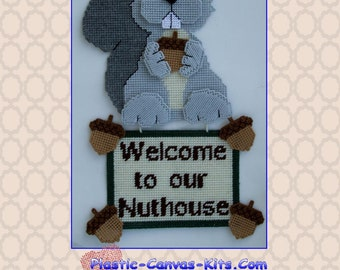 Welcome to our Nuthouse Squirrel Wall Hanging-Plastic Canvas Pattern-PDF Download