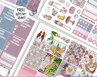 Dreamy Kitchen - KIT - PRINTABLE silhouette cut file , printable sticker planner,  printable planner stickers