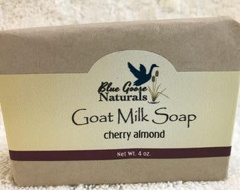 Cherry Almond Goat Milk Bar Soap
