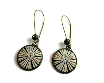 ETHNIC dangle Earrings - ethnic earrings - Made by dans l air du temps - Gifts for her- Spring Wedding jewelry -  Lightweight