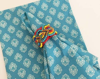 Cloth Dinner Napkins, Turquoise French Napkins