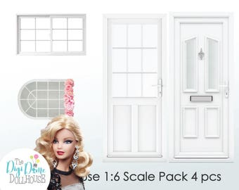 Playscale 1:6 Dollhouse Printables, Instant Download