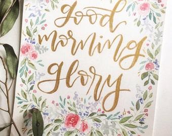 Good Morning Glory Print