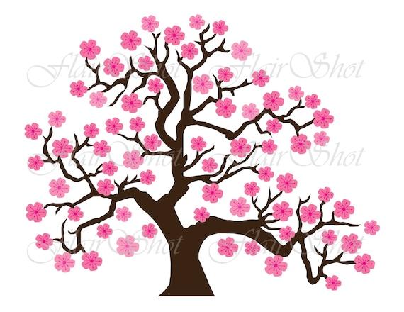 digital clip art pink cherry blossom tree clipart bonsai tree rh etsystudio com clipart cherry blossom free clip art cherry blossoms