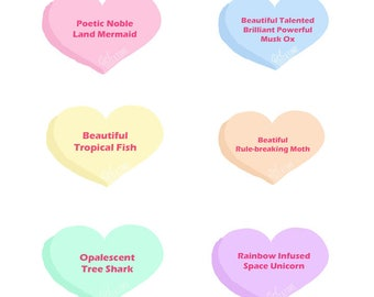 Leslie Knope Parks and Rec Compliment Heart Small Sticker Sheet of 6