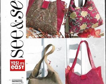 2004 Butterick B4271 Handbags Sewing Pattern UNCUT