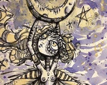 April Fae Moon tea painting