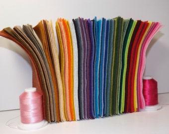 """Wool Felt 6x9"""" 40 sheets"""