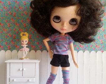 SALE* Conjunto de camiseta y medias para Blythe y Pure Neemo
