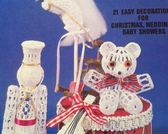 Victorian crochet ornaments, crochet Christmas ornaments, crochet wedding ornaments, crochet baby shower ornaments, vintage crochet patterns