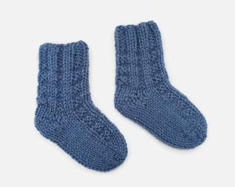 knitted baby socks | blue newborn socks | gender announcement | baby boy gift