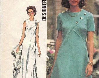 1970s A-line Dress Pattern Simplicity 5911 Size 12