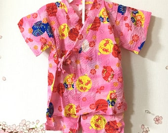 Toddler Girl Kimono, Cute Outfits For Girls, Pink With Fish Design, Baby Kimono, Child Kimono, Baby Gifts, Baby Jinbei, Photo Prop Idea