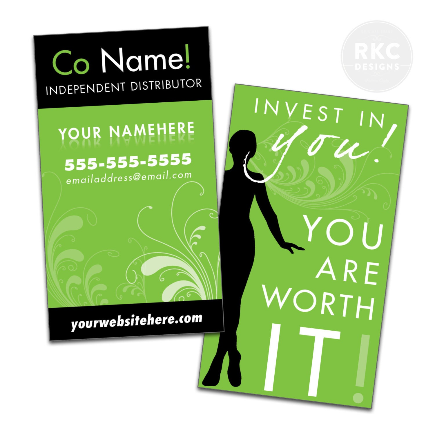 Black and Green IT Works Business Cards Printed & Shipped