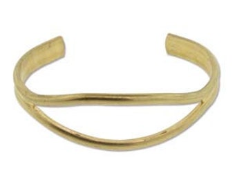 Open Eye Design Brass Bracelet Cuff for Jewelry Making Etc.