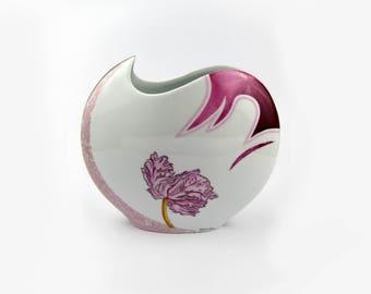 Porcelain vase Hand painted France