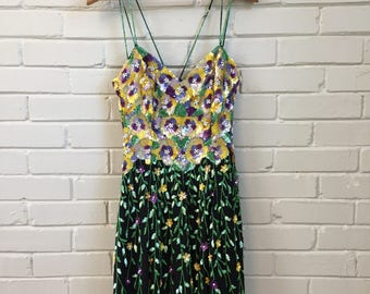 Handmade beaded vintage dress