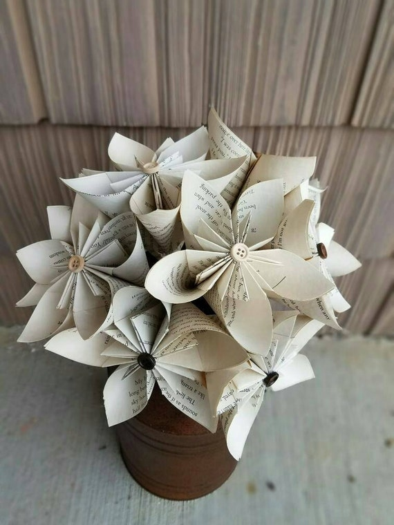 Book paper flowers paper flower paper book flowers tea mightylinksfo