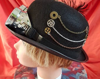 new one off steampunk bowler hat (60)