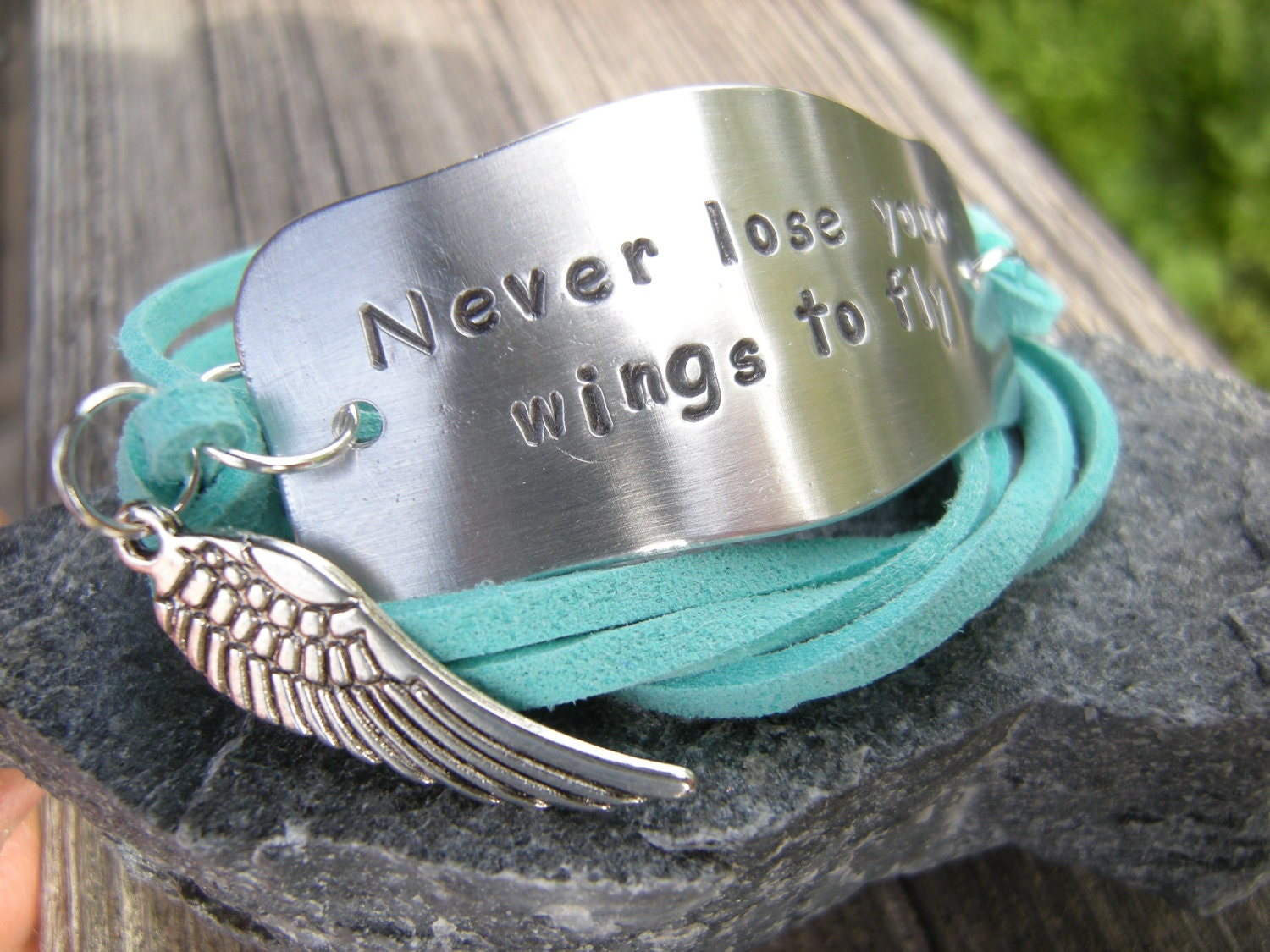 cuff chase dreams graduation your message stude metal gift student products inspirational bracelet motivation