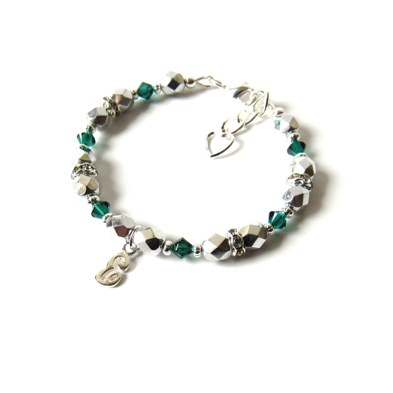 childrens jewelry may birthstone bracelet girls initial. Black Bedroom Furniture Sets. Home Design Ideas