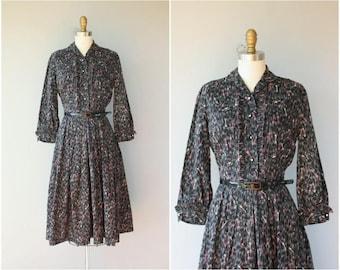 Vintage 1950s Novelty Print Dress   50s Key Print Dress   50s Shirtwaist Dress   1950s Cotton Dress   1950s Day Dress - (medium)