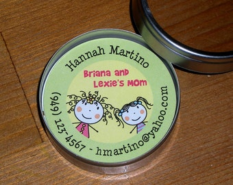 Calling Cards/Mommy Cards in Tin - Set of 45 cards - Customized
