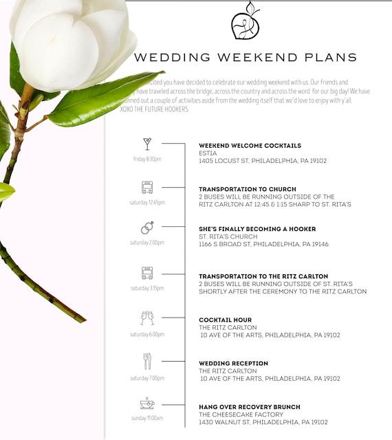 Hochzeit am Wochenende Reiseroute