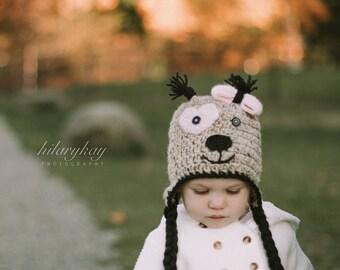 Little Puppy hat | Crocheted Hat | Winter Hat | Toddler Hat | Knit Hat | Baby boy hat