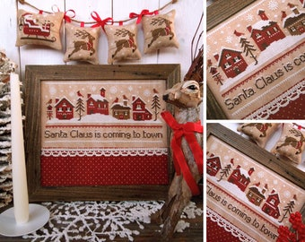 Santa Claus is Coming to Town - PDF DIGITAL Cross Stitch Pattern