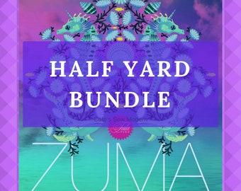 PRE-ORDER Tula Pink Zuma 1/2 Yard Bundle, 22 Pc Half Yard Bundle, Tula Pink Pre-Cut Bundle, Nautical Bundle, Tula Pink Half Yard Bundle