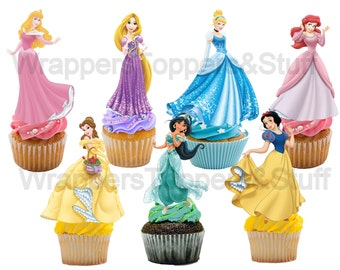 PRINTABLE Disney Princess Cupcake Toppers Princess Cupcake