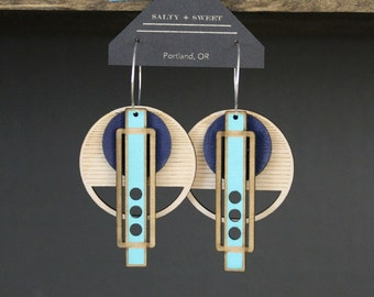 Laser cut earring | WRIGHT: Blue