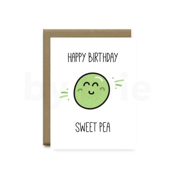 Happy birthday sweet pea funny birthday card boyfriend funny like this item bookmarktalkfo Gallery