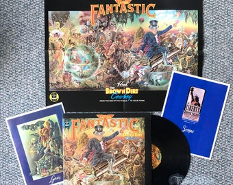 Elton John - Captain Fantastic and Brown Dirt Cowboy (1975) Vinyl LP & BOOKS