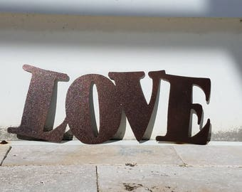 Metal Love Sign - Metal Letters - Metal Wall Art - Live Laugh Love - Outdoor Decor - Home Decor - Word Art - Quote Set - Wall Art Metal