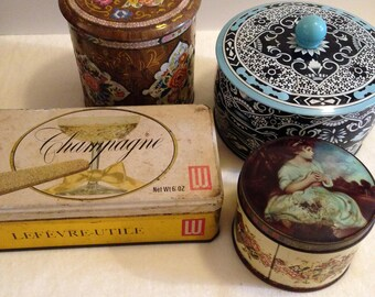 Collection of Vintage Cookie Tins (Four)