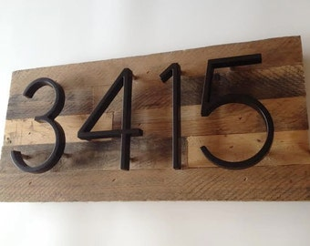 Custom Address Plaque made from Reclaimed Wood - rustic, personalized, house numbers, address sign, cabin, cottage, housewarming gift modern