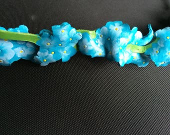 Forget-Me-Not leather floral crown