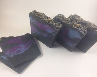 handmade soap, bath soap, the wiseman soap, soap made with frankinsence myrrh, soap made with activated charcoal, soap made with coconut oil