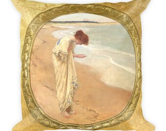 William Margetson, The sea - Square Pillow