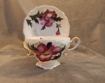 Vintage Lefton Teacup and Saucer made In Occupied Japan