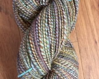 Hand-spun wool yarn