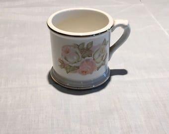 Vintage shaving mug with flowers